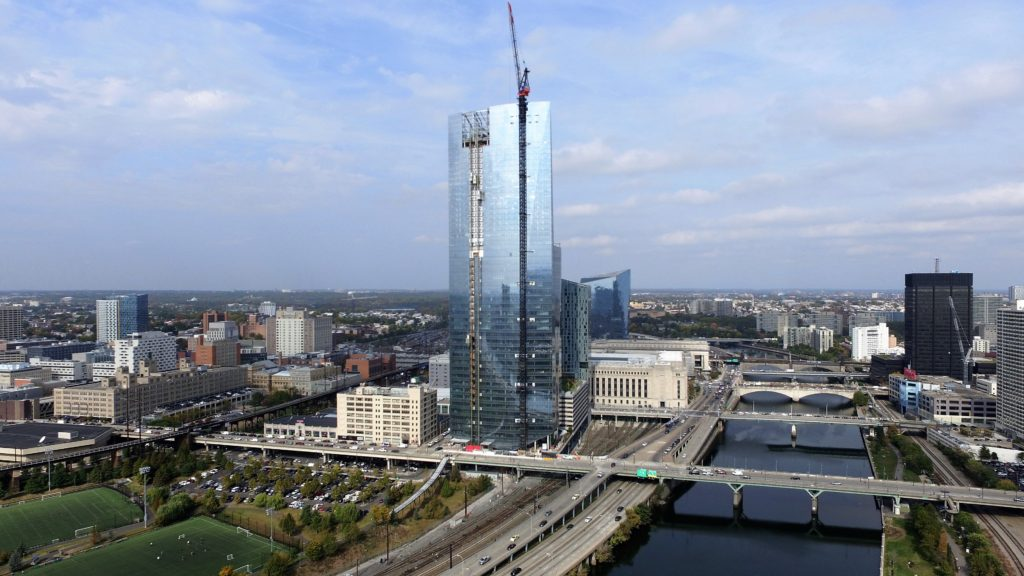 Cira Centre South from Above Schuylkill-River-Park