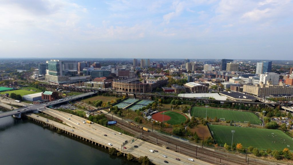 Franklin Field from Above Schuylkill River Park