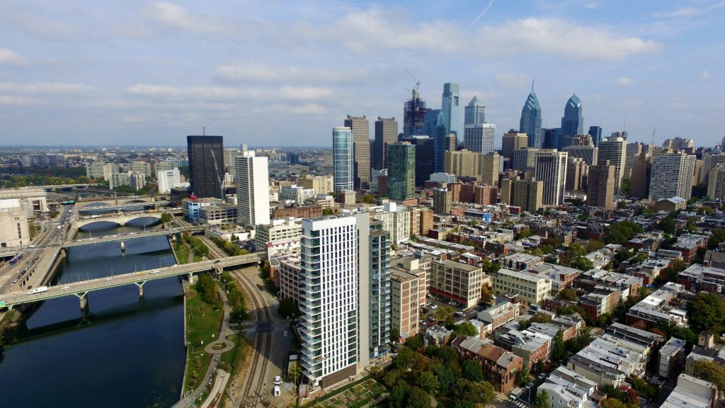 Center City from Above Schuylkill-River-Park